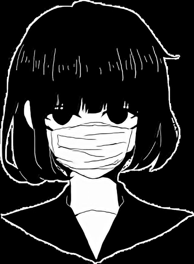 #anime #edgy #blackandwhite #black #white #aesthetic #art #freetoedit