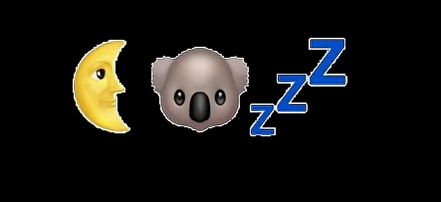 Emoji Tumblr Koala Moon Zzz Aestheticfreetoedit