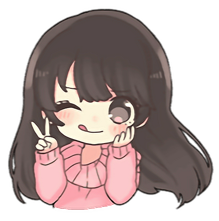 Kawaii Stickers Cute Sticker Chibi Adorable Png Girl